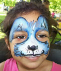 Face painting - rabbit face