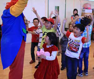 Kids' show with children dancing
