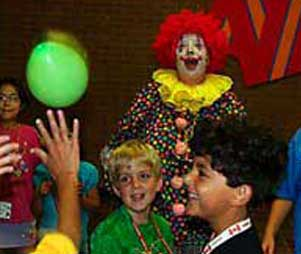 Kids' show with children playing